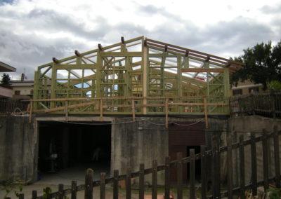 Sopraelevazione con edificio in legno con adeguamento della struttura in c.a. portante